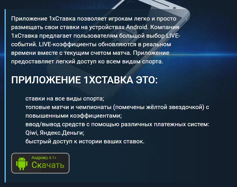 Описание приложения для Android